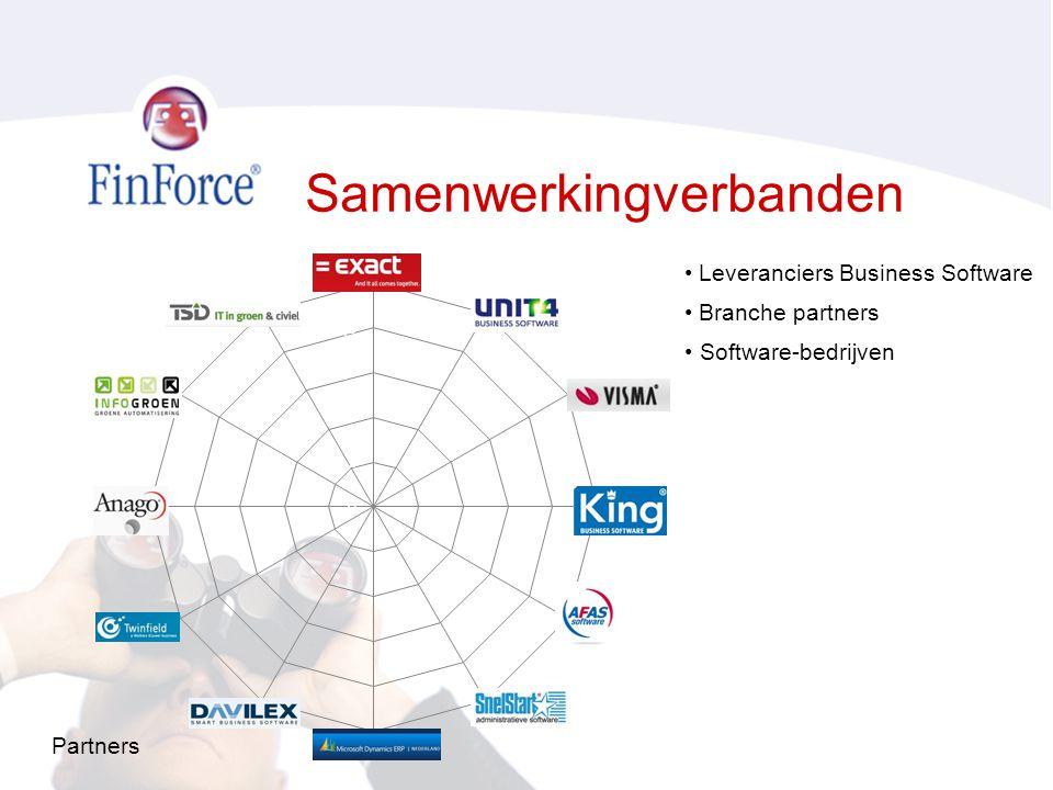 Samenwerkingverbanden • Leveranciers Business Software • Branche partners • Software-bedrijven