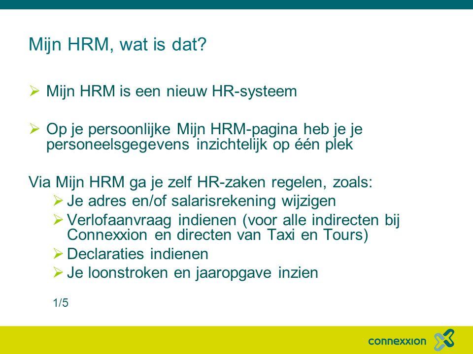 Mijn HRM, wat is dat.
