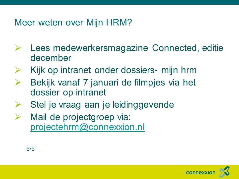 Meer weten over Mijn HRM.