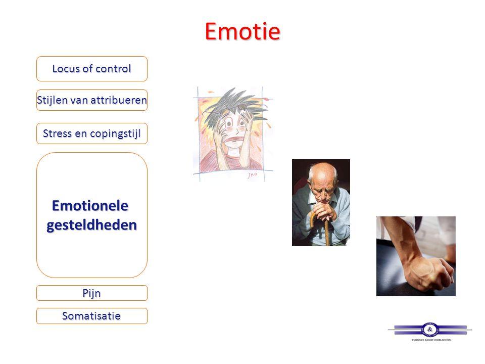 Emotie Locus of control Stijlen van attribueren Stress en copingstijl Emotionelegesteldheden Somatisatie Pijn
