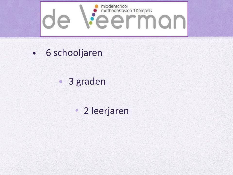 • 6 schooljaren • 3 graden • 2 leerjaren