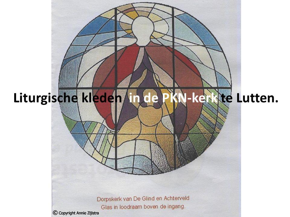 Liturgische kleden in de PKN-kerk te Lutten.