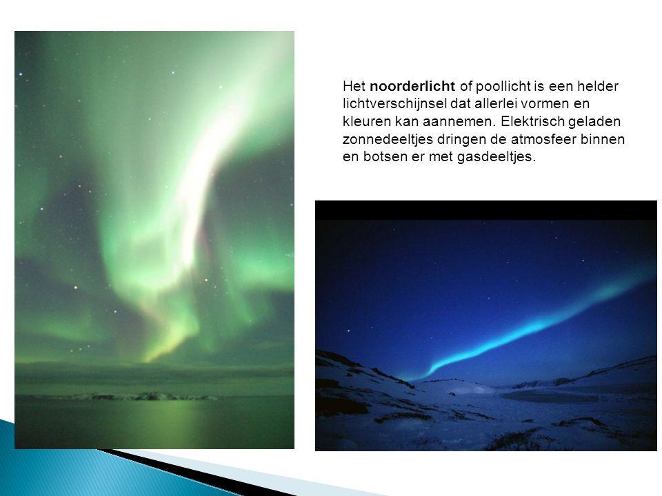 Het noorderlicht of poollicht is een helder lichtverschijnsel dat allerlei vormen en kleuren kan aannemen.