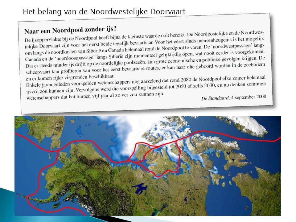 Het belang van de Noordwestelijke Doorvaart