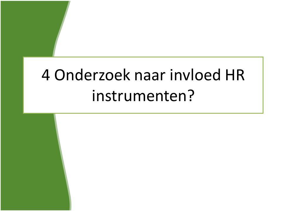 4 Onderzoek naar invloed HR instrumenten?