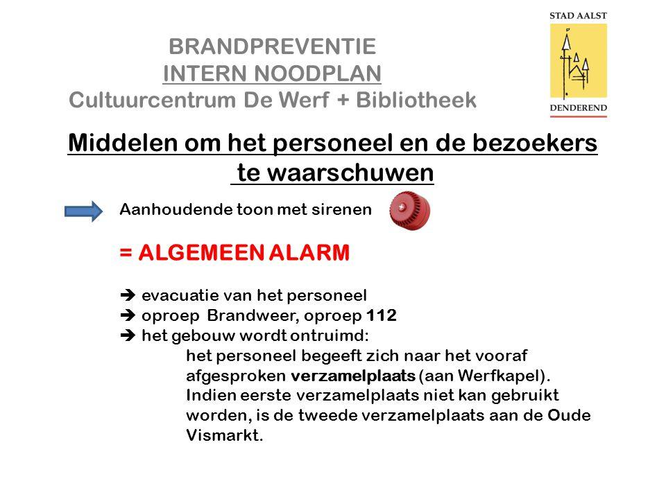 BRANDPREVENTIE INTERN NOODPLAN Cultuurcentrum De Werf + Bibliotheek Interventie in de praktijk CO² Blusser