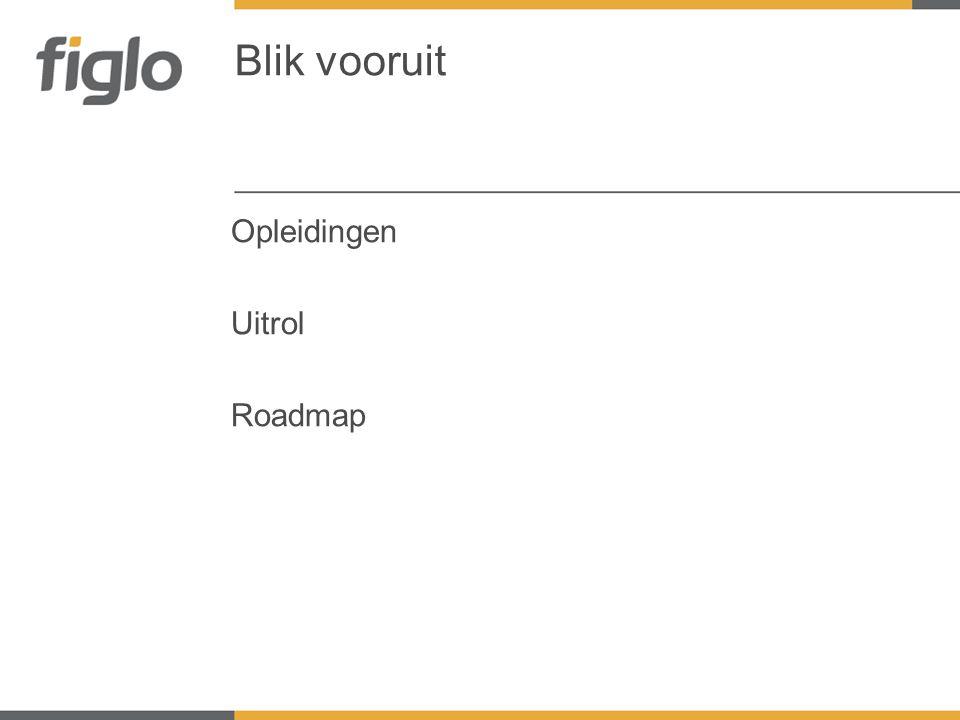2011 Februari •Pilot Mei •officiële lancering en ingebruikname Figlo Platform •Uitfasering AfinCenter (niet meer leverbaar) Roadmap Figlo 1 e fase