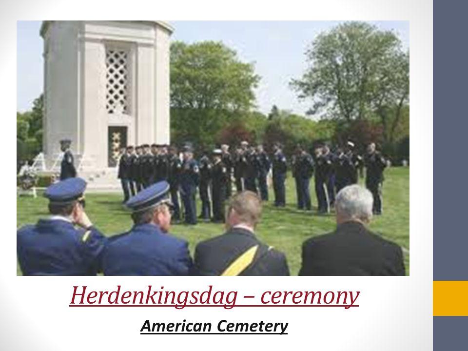 Herdenkingsdag – ceremony American Cemetery