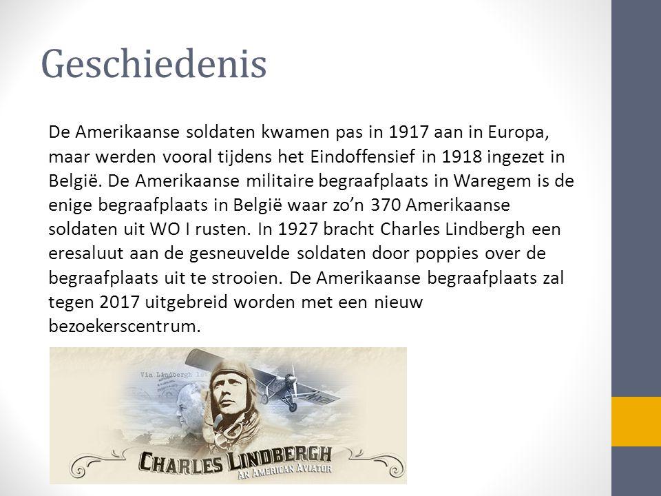 Geschiedenis De Amerikaanse soldaten kwamen pas in 1917 aan in Europa, maar werden vooral tijdens het Eindoffensief in 1918 ingezet in België.