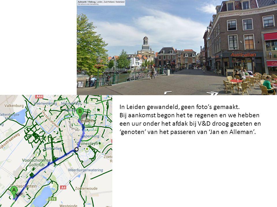 In Leiden gewandeld, geen foto's gemaakt.