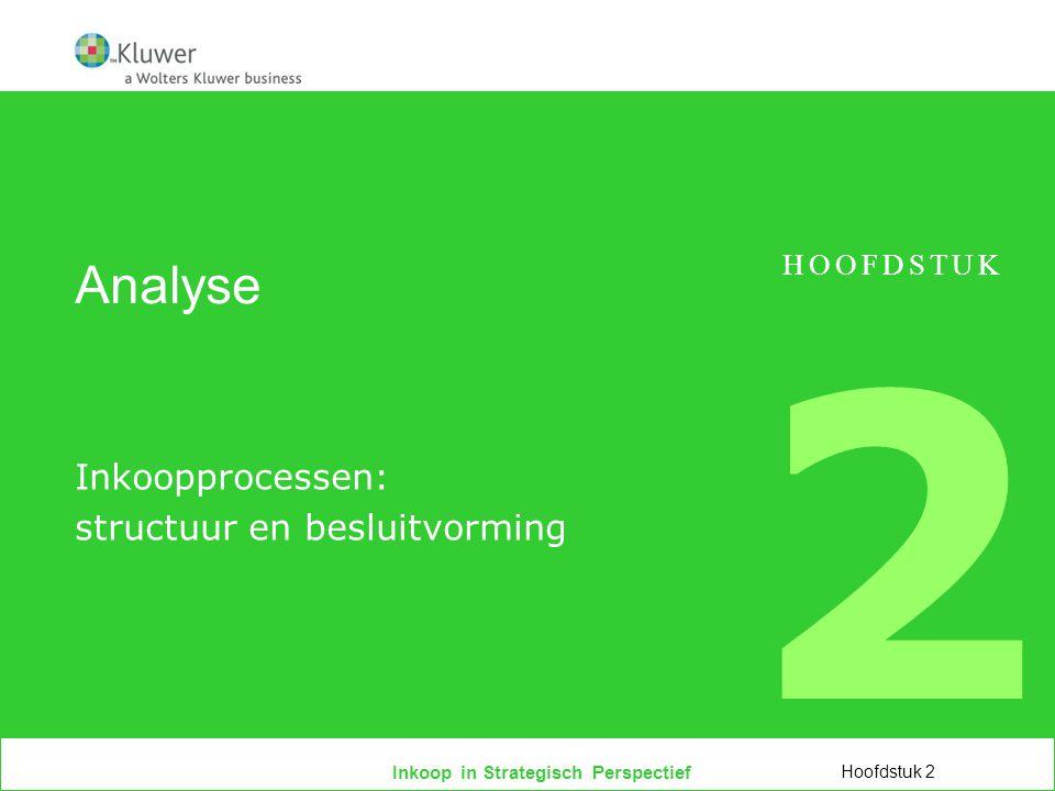Inkoop in Strategisch Perspectief Analyse Inkoopprocessen: structuur en besluitvorming HOOFDSTUK 2 Hoofdstuk 2