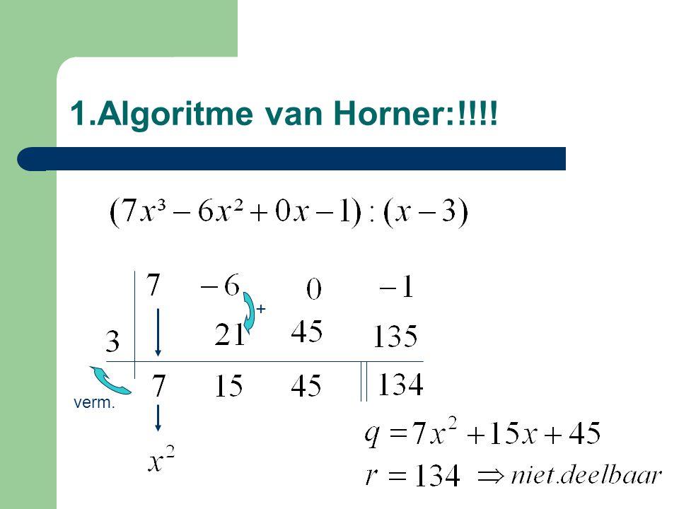 Opm. getalw. bepalen Rest = getalwaarde V(a)