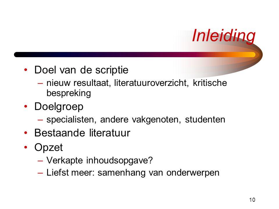 thesis onderwerpen