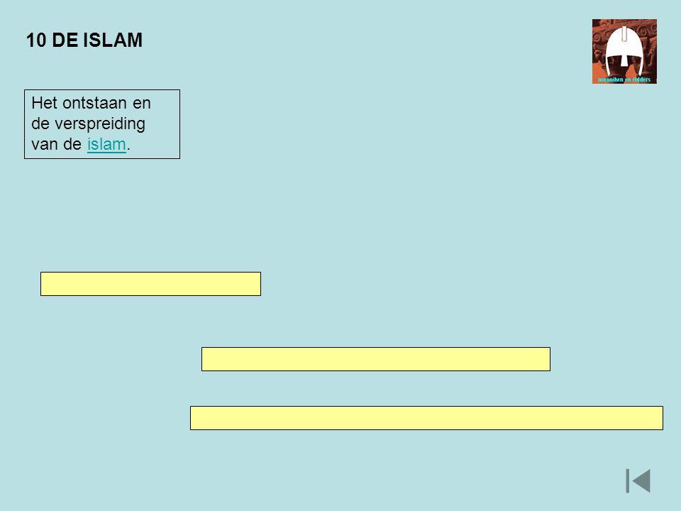10 DE ISLAM Het ontstaan en de verspreiding van de islam.islam