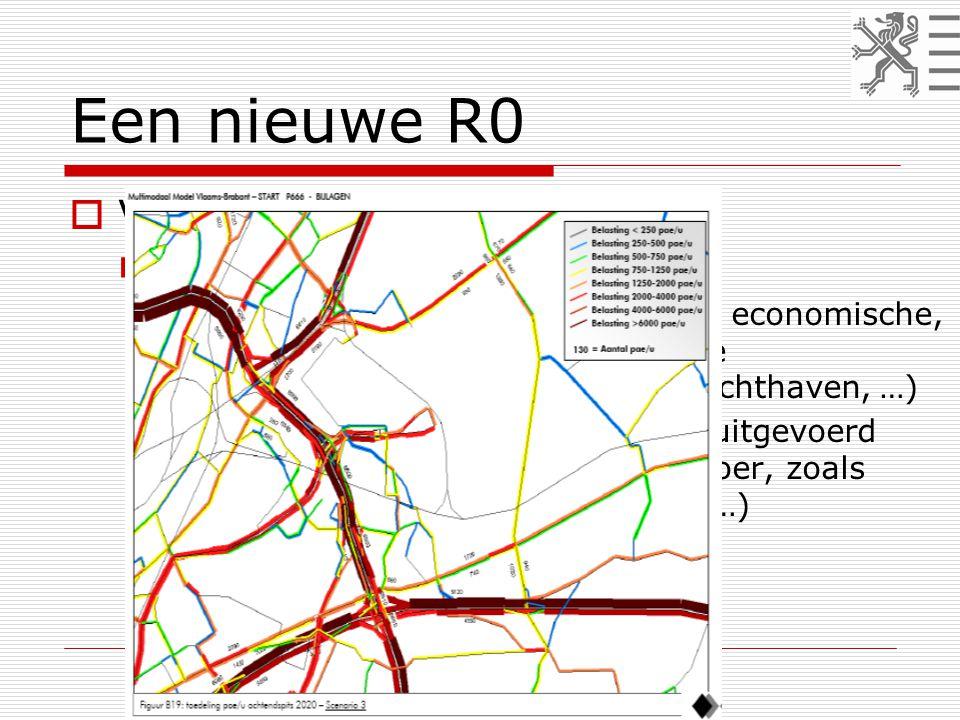 Een nieuwe R0  Van principes naar ontwerp  Vervoersvraag 2020 – START  alle doelstellingen START, ook de economische, worden gerealiseerd (bijkomende bedrijventerreinen, uitbreiding luchthaven, …)  alle mobiliteitsprojecten worden uitgevoerd (infrastructuur én openbaar vervoer, zoals GEN, Regionet Brabant-Brussel, …)