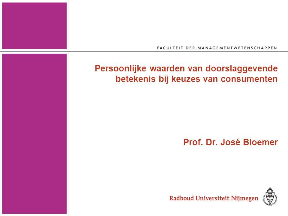 Persoonlijke waarden en beslissingsgedrag van consumenten •Wat zijn persoonlijke waarden.