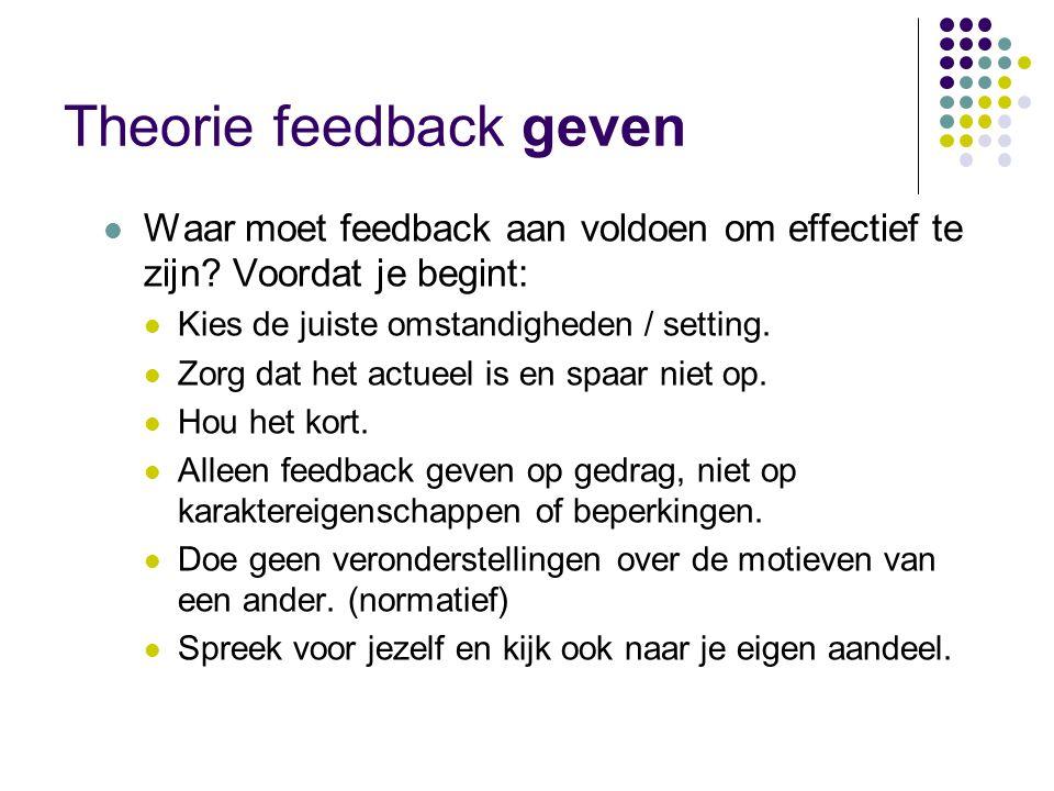 Theorie feedback geven  http://www.youtube.com/watch?v=QJgMkc8Z gBA&feature=related http://www.youtube.com/watch?v=QJgMkc8Z gBA&feature=related