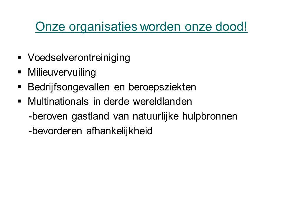 Onze organisaties worden onze dood.