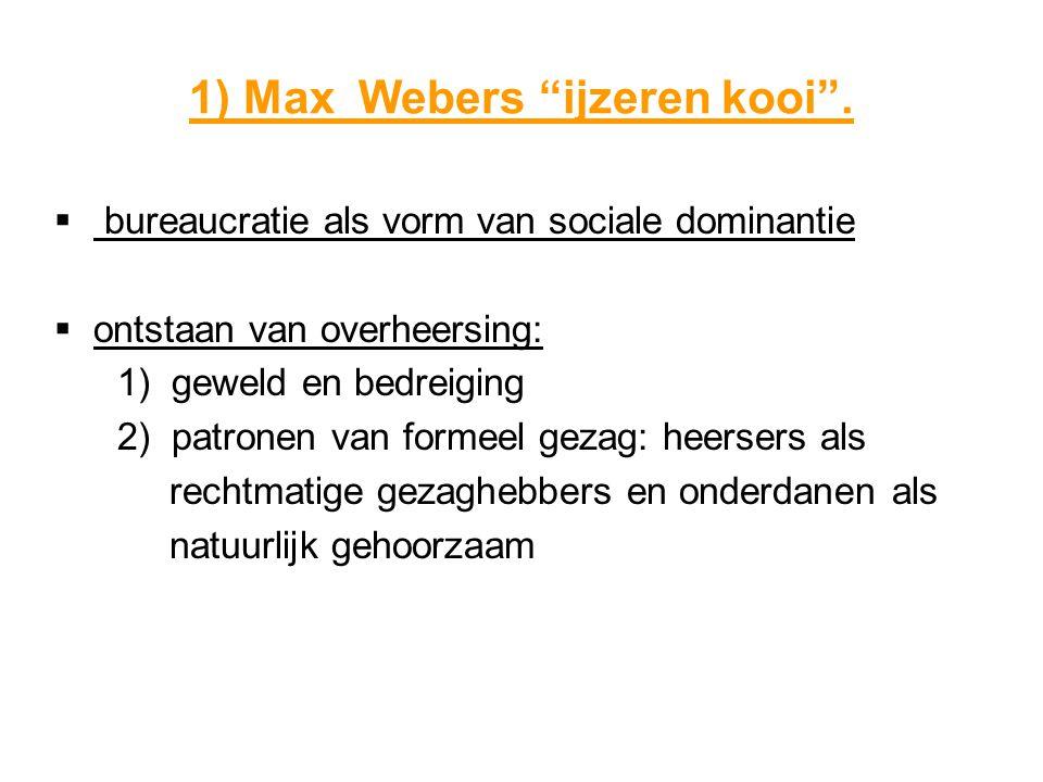 1) Max Webers ijzeren kooi .