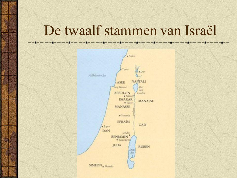 de 12 stammen van Israel 10. Simeon Zoon van Jacob en Lea (verhoring) Later opgegaan in Juda