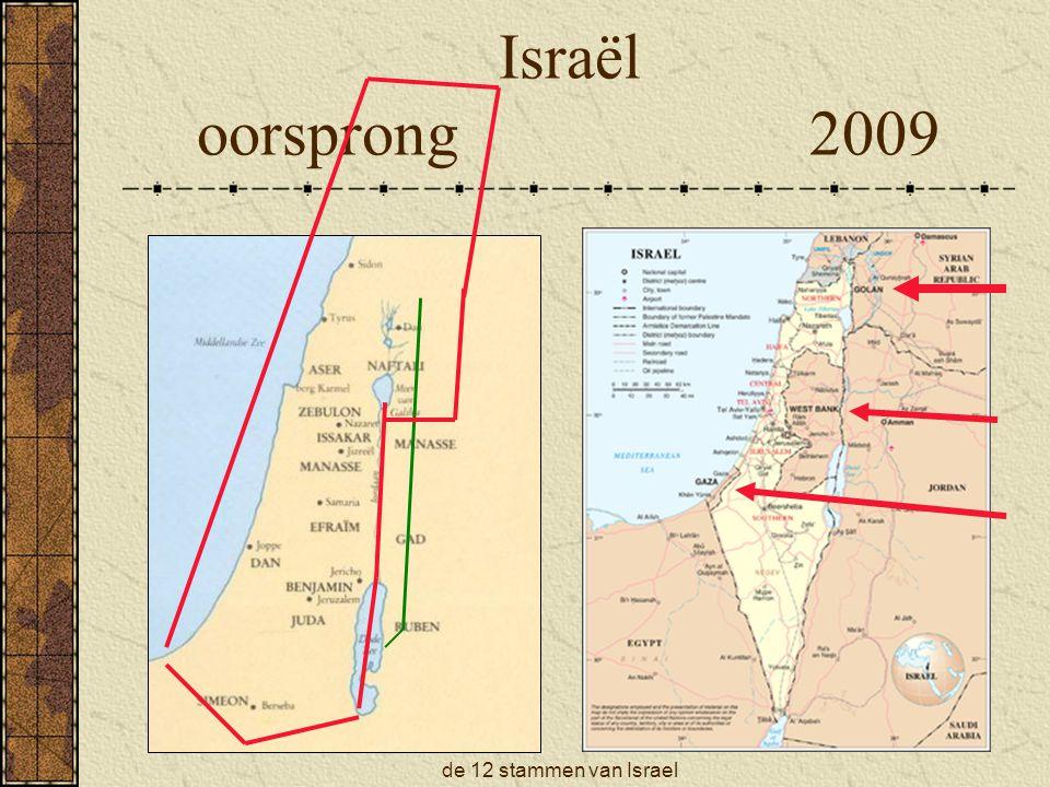 de 12 stammen van Israel Israël oorsprong 2009