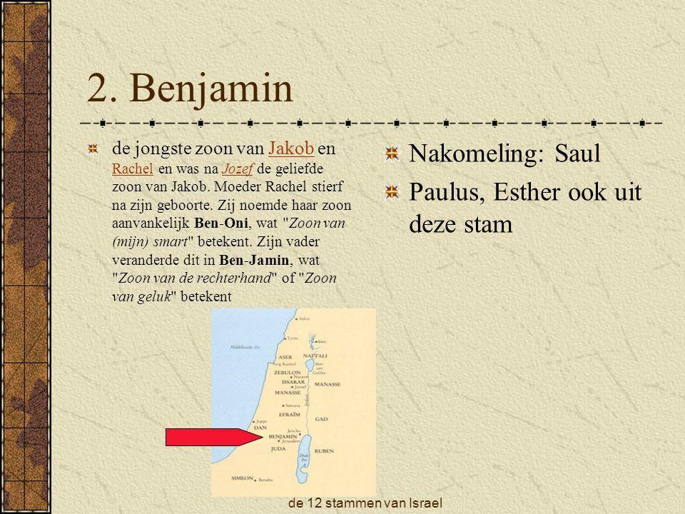 de 12 stammen van Israel 2.