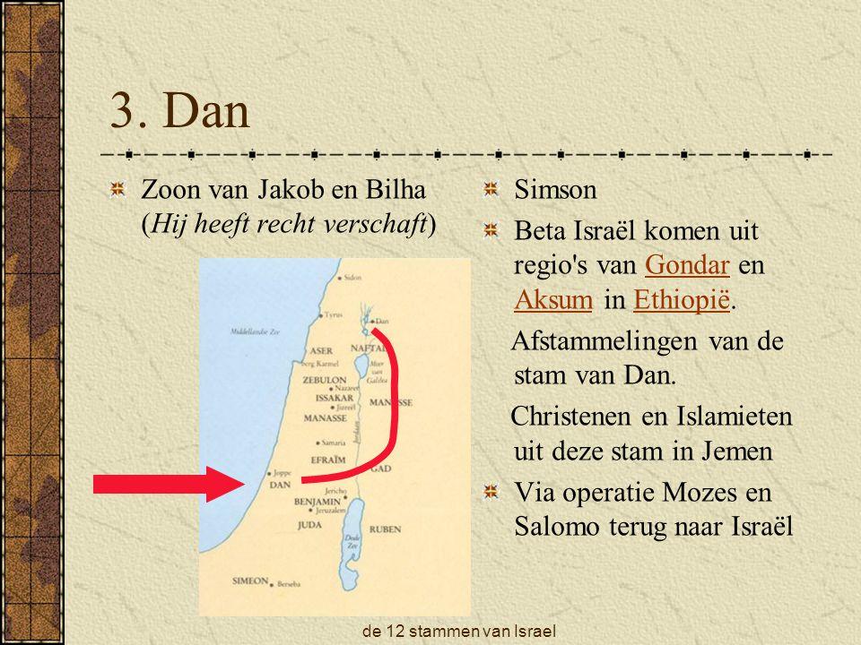 de 12 stammen van Israel Volgens Numeri 34: 1 t/m 11 Golan
