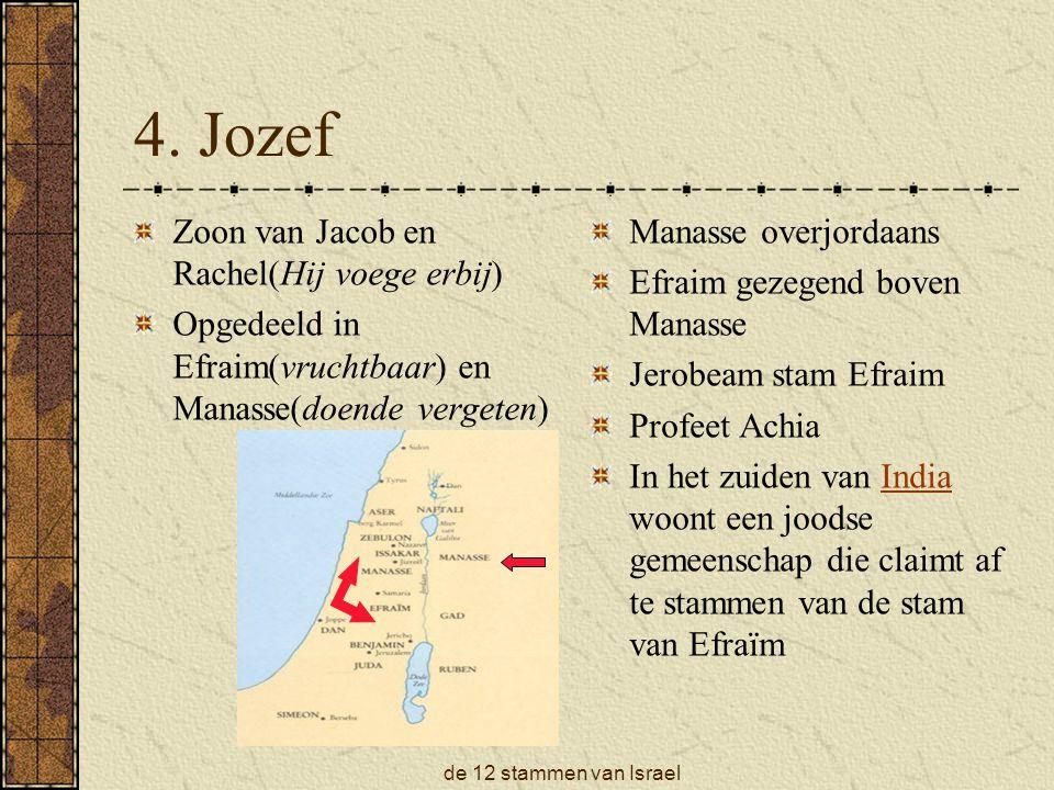 de 12 stammen van Israel 5.
