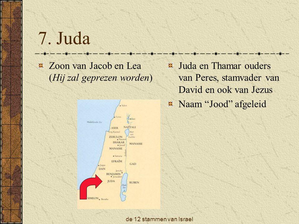 de 12 stammen van Israel 7.
