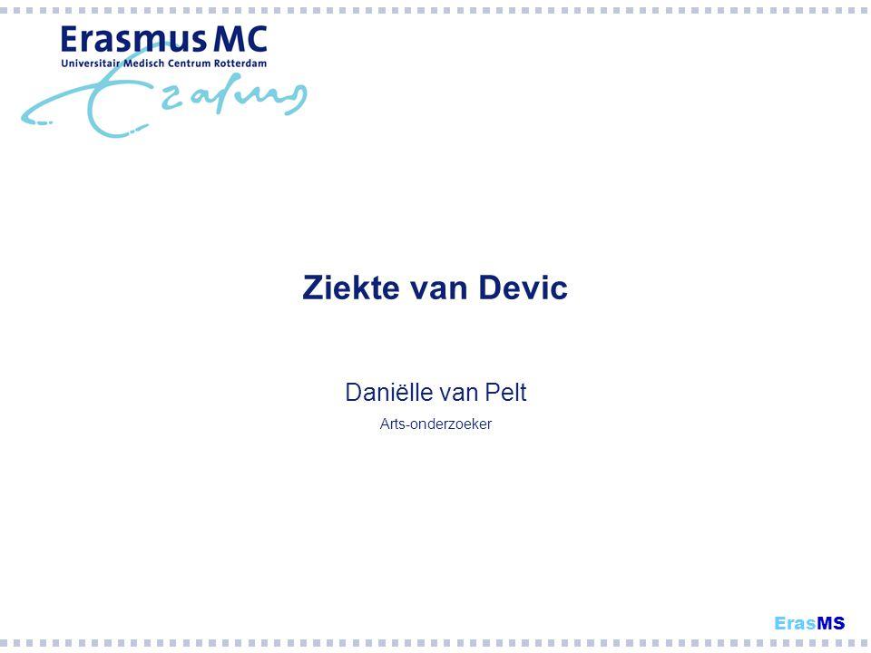 Ziekte van Devic Daniëlle van Pelt Arts-onderzoeker ErasMS
