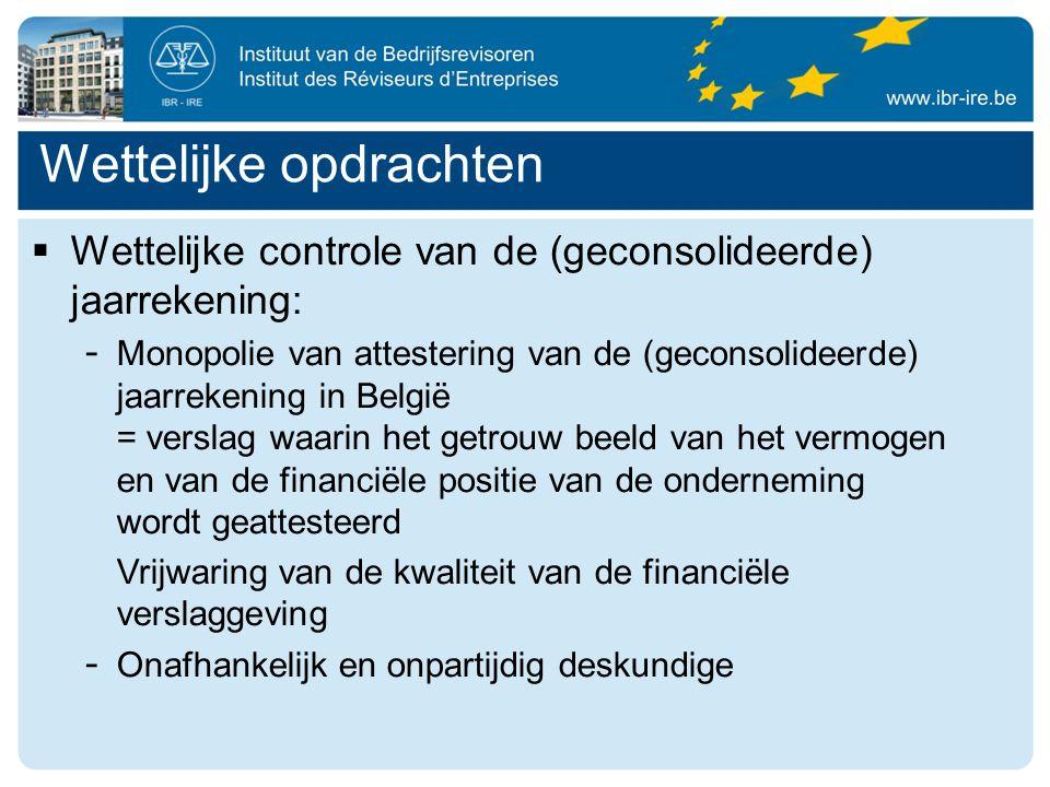 Wettelijke opdrachten  Ondernemingsraad - Certificering van de getrouwheid en de volledigheid van de aan de ondernemingsraad meegedeelde economische en financiële informatie - Analyse en verklaring van de economische en financiële informatie