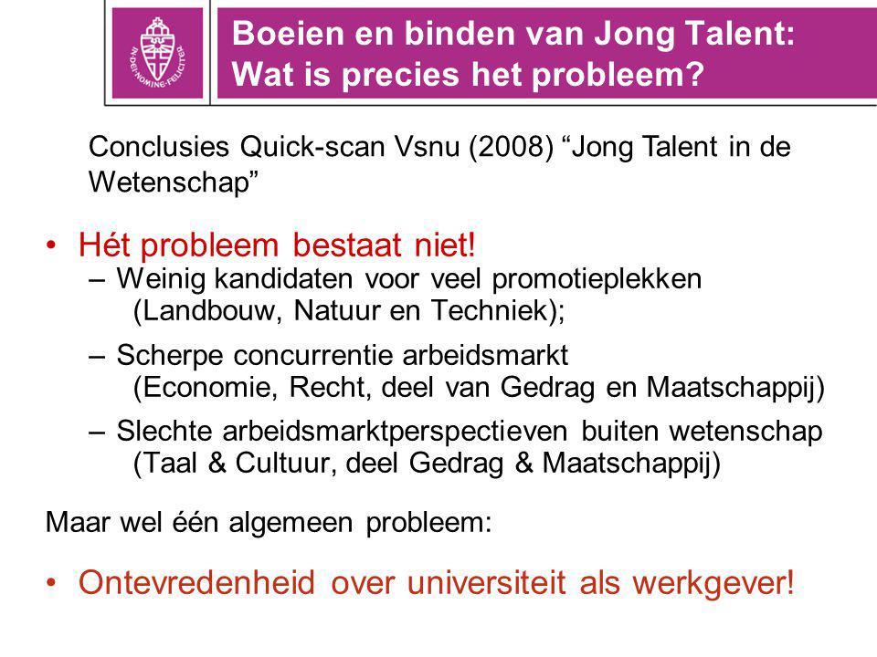 Boeien en binden van Jong Talent: Wat is precies het probleem.
