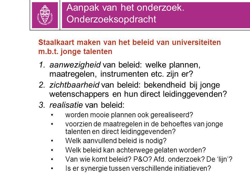 Staalkaart maken van het beleid van universiteiten m.b.t.