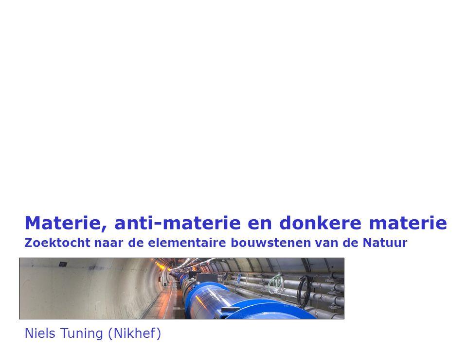 Materie, anti-materie en donkere materie Zoektocht naar de elementaire bouwstenen van de Natuur Niels Tuning (Nikhef)