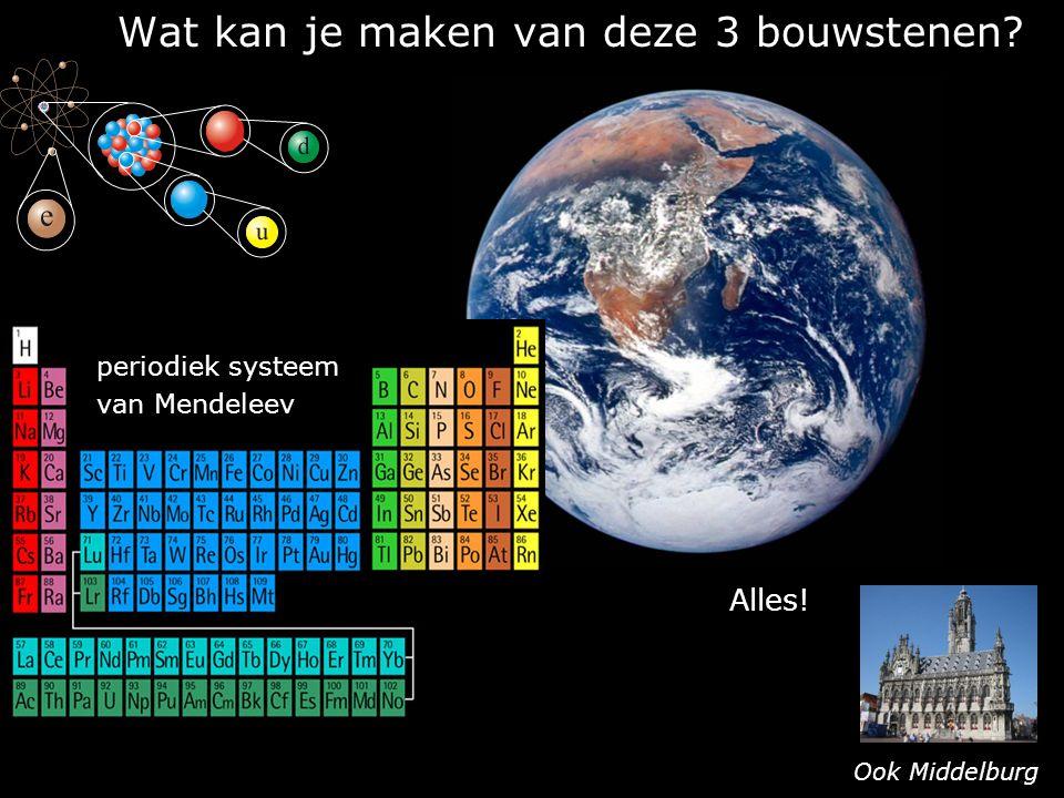 Wat kan je maken van deze 3 bouwstenen? periodiek systeem van Mendeleev Alles! Ook Middelburg