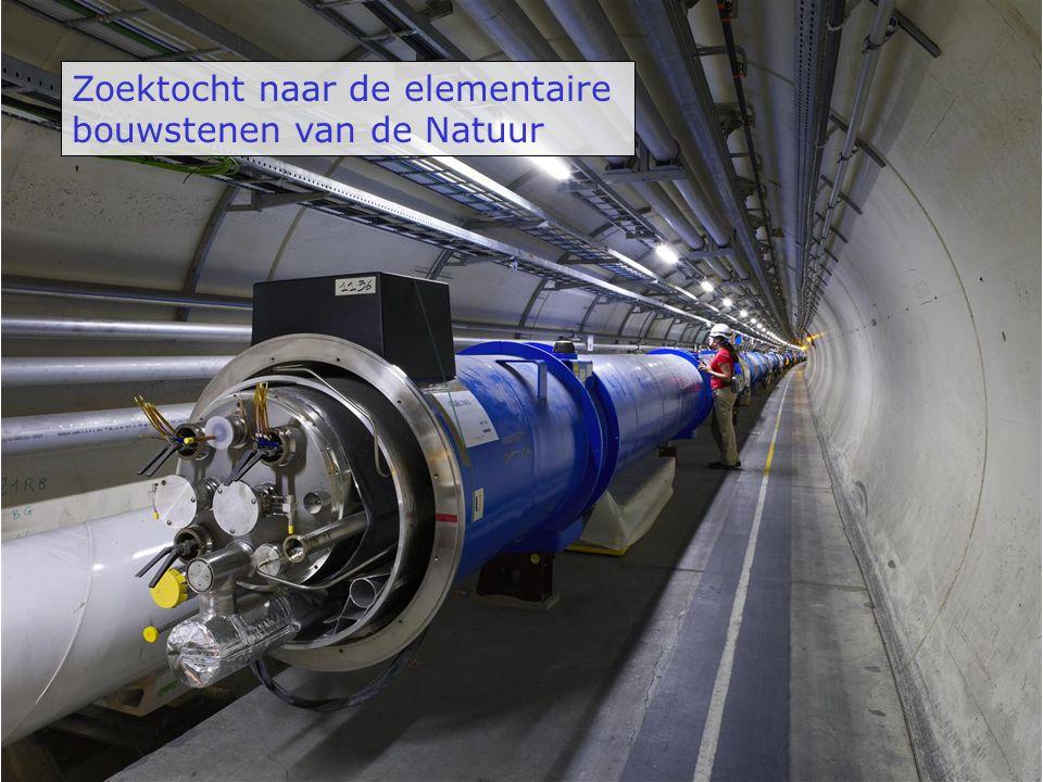 De elementaire deeltjes - 2/3 e + 1/3 e + 1 e 0 e u d c s t b e   ee    Anti-materie Lading III I II Lading + 2/3 e - 1/3 e - 1 e 0 e quarks leptons Materie (1956) u d I e ee (1895) t b III   (1973) (2000) (1978) (1995) c s II   (1936) (1963) (1947) (1976) (1932)
