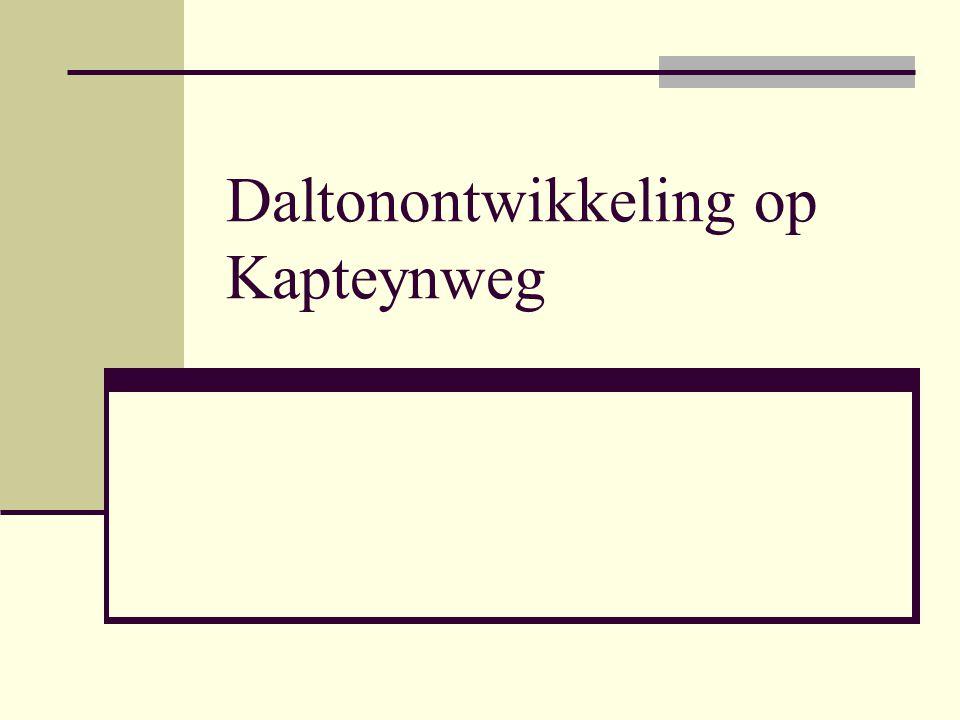 Daltonontwikkeling op Kapteynweg