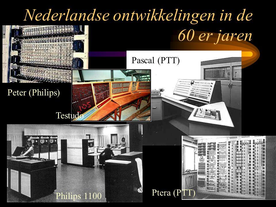 Nederlandse ontwikkelingen in de 60 er jaren Peter (Philips) Ptera (PTT) Pascal (PTT) Philips 1000 en 1100 Testudo Philips 1100