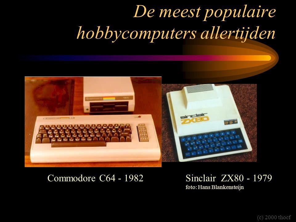De meest populaire hobbycomputers allertijden Commodore C64 - 1982Sinclair ZX80 - 1979 foto: Hans Blankensteijn (c) 2000 thocf