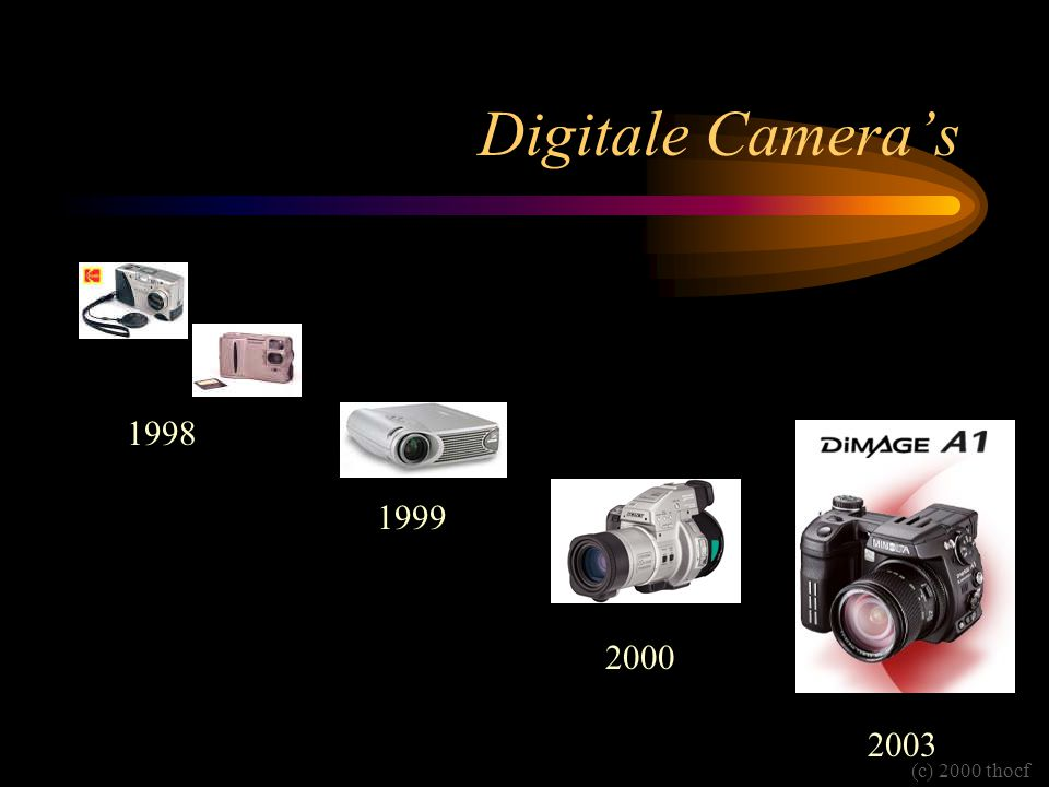 Digitale Camera's 1998 1999 2000 (c) 2000 thocf 2003