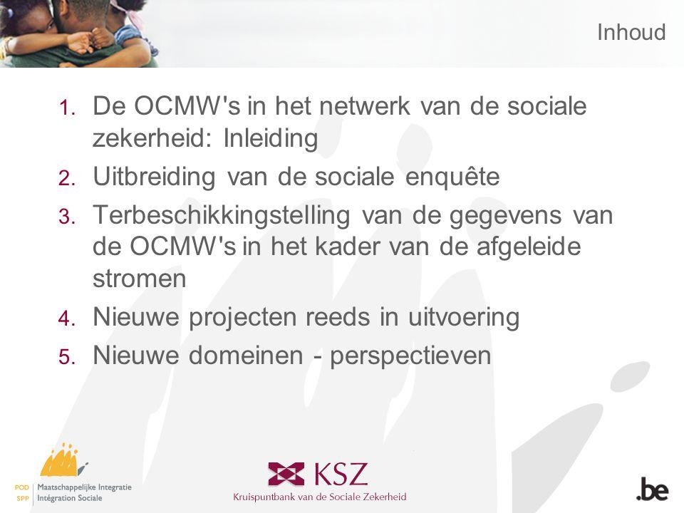 Inhoud 1. De OCMW s in het netwerk van de sociale zekerheid: Inleiding 2.