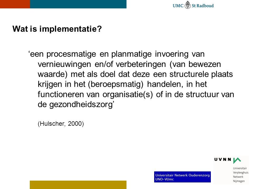 Wat is implementatie.