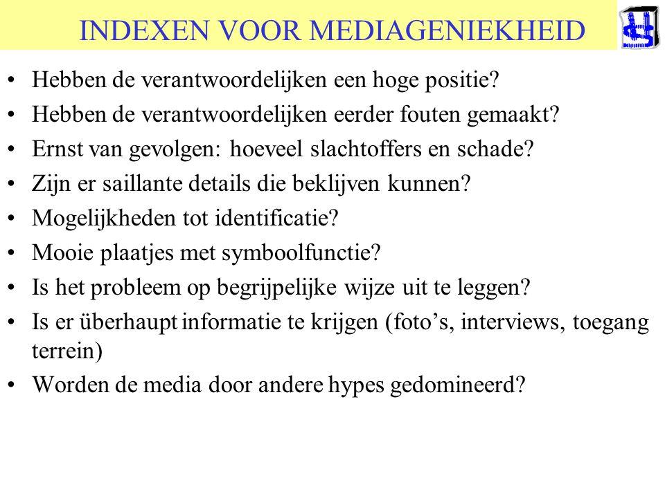 © 2006 JP van de Sande RuG INDEXEN VOOR MEDIAGENIEKHEID •Hebben de verantwoordelijken een hoge positie? •Hebben de verantwoordelijken eerder fouten ge