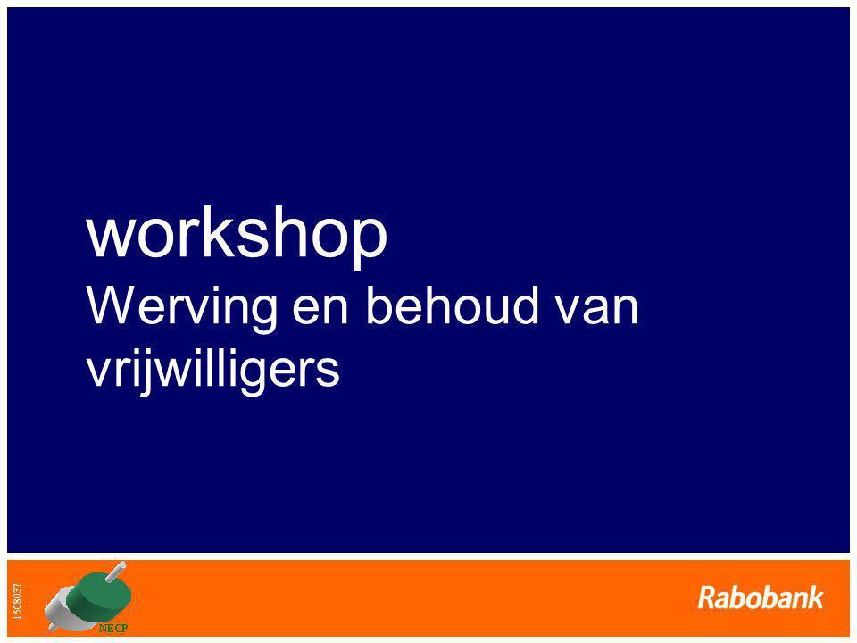 1508037 workshop Werving en behoud van vrijwilligers