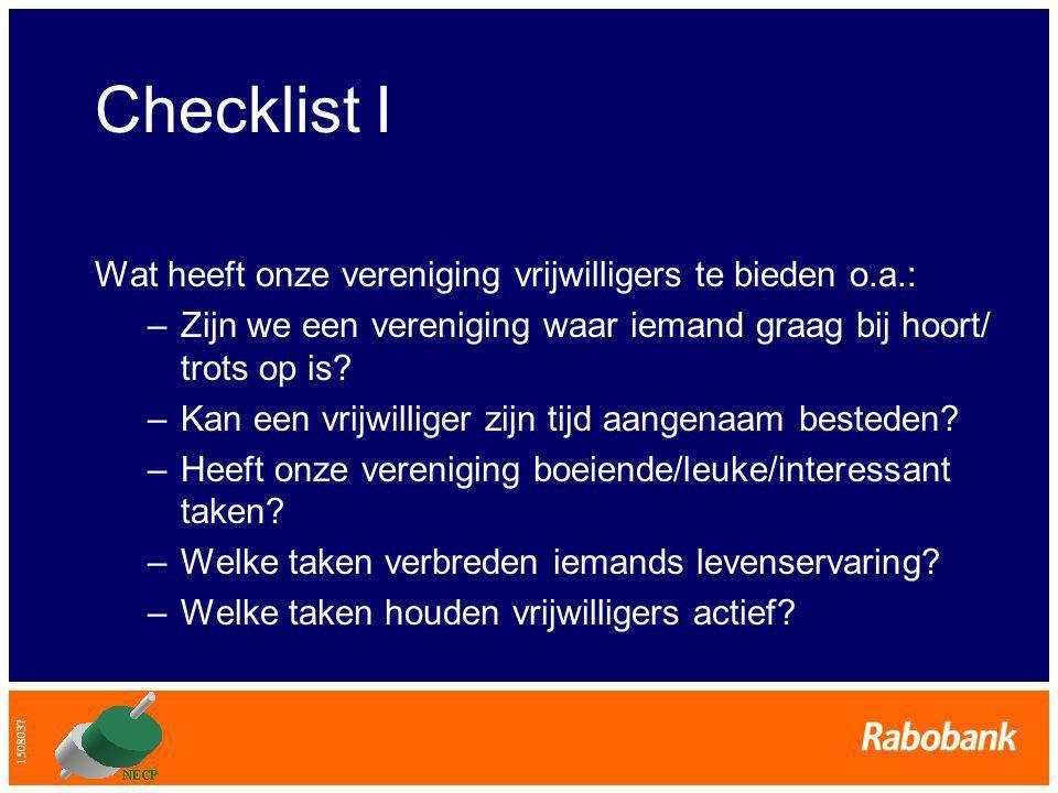 1508037 Checklist II Welke maatschappelijke ontwikkelingen veroorzaken het komen en gaan van onze vrijwilligers.