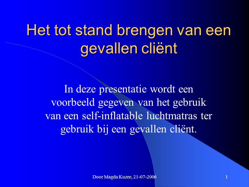Door Magda Kuzee, 21-07-20061 Het tot stand brengen van een gevallen cliënt In deze presentatie wordt een voorbeeld gegeven van het gebruik van een se