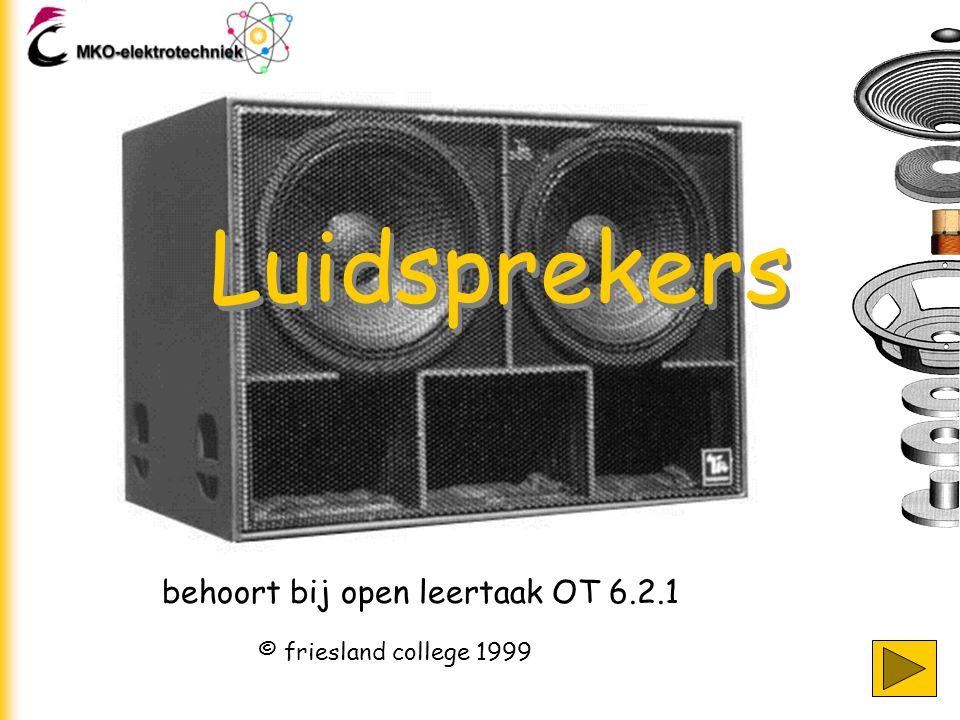 Luidsprekers behoort bij open leertaak OT 6.2.1 © friesland college 1999