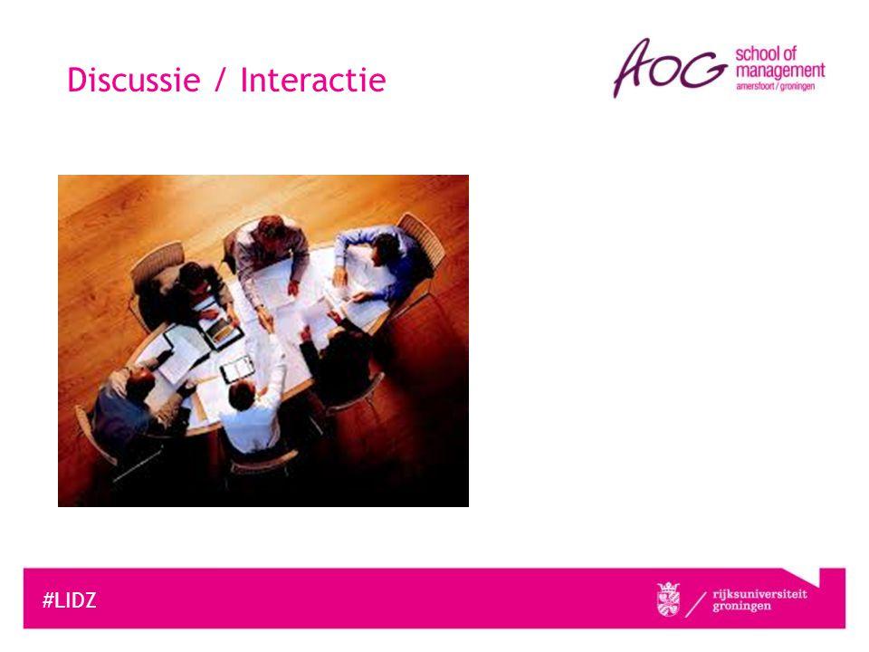 Discussie / Interactie #LIDZ
