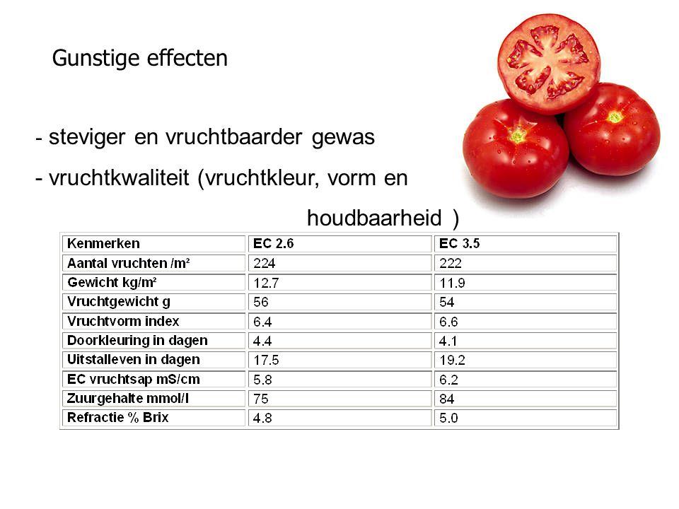 Gunstige effecten - steviger en vruchtbaarder gewas - vruchtkwaliteit (vruchtkleur, vorm en houdbaarheid )
