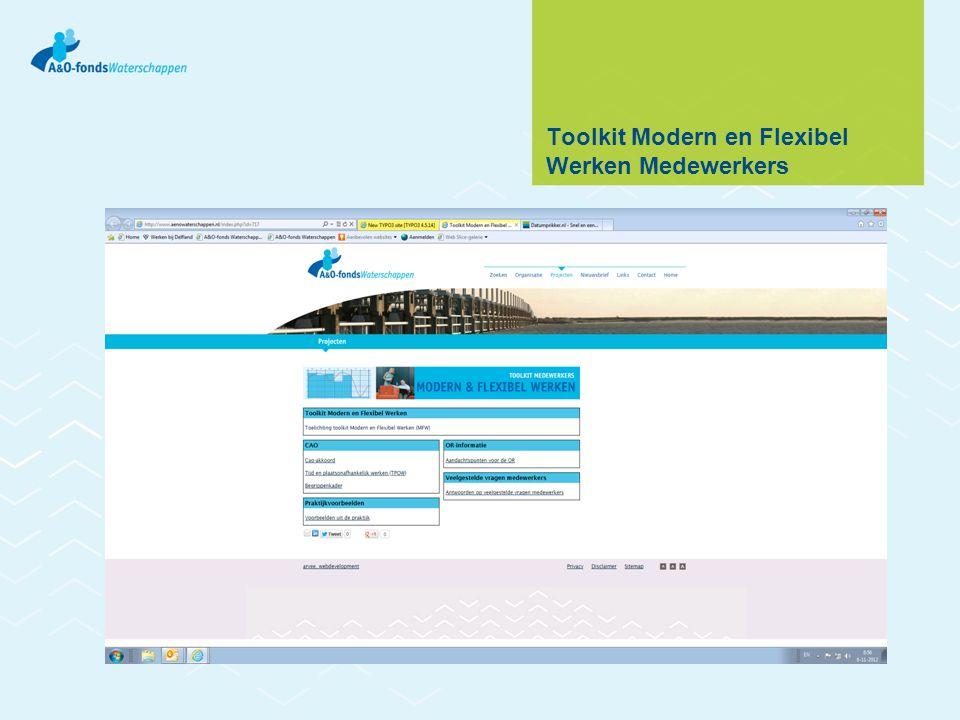 Toolkit Modern en Flexibel Werken Medewerkers